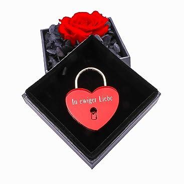 Rosenbox Schmuck Rosen Flower Box Geschenkbox MIT GRAVUR Valentinstag Geschenk