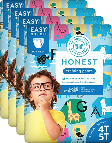 76 Count Super Heroes Packaging May Vary 4T//5T The Honest Company Toddler Training Pants