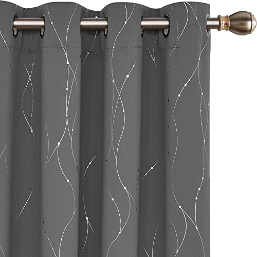 Deconovo Blackout Grommet Curtains Pair Thermal Insulated Light Blocking Curtains - a good cheap window curtain panel