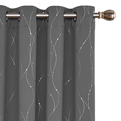 Buy Deconovo Blackout Curtains For Bedroom 84 Inches Long Set Of 2 Thermal Insulated Grey Curtains Drapes For Sliding Glass Door 52 X 84 Inch Grey 2 Panels Online In Greece B074shjpcl