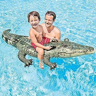 Amyove Los niños refrescan el Anillo Flotante de la natación del Juguete del Agua Grande de la Forma del cocodrilo para al Aire Libre