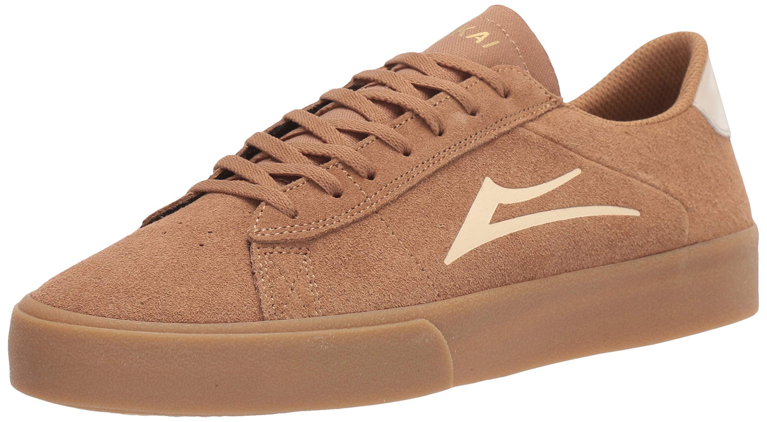 Lakai Limited Footwear Mens Newport Skate Shoe, Tan/Gum Suede, 12 M US by Lakai Limited Footwear Mens
