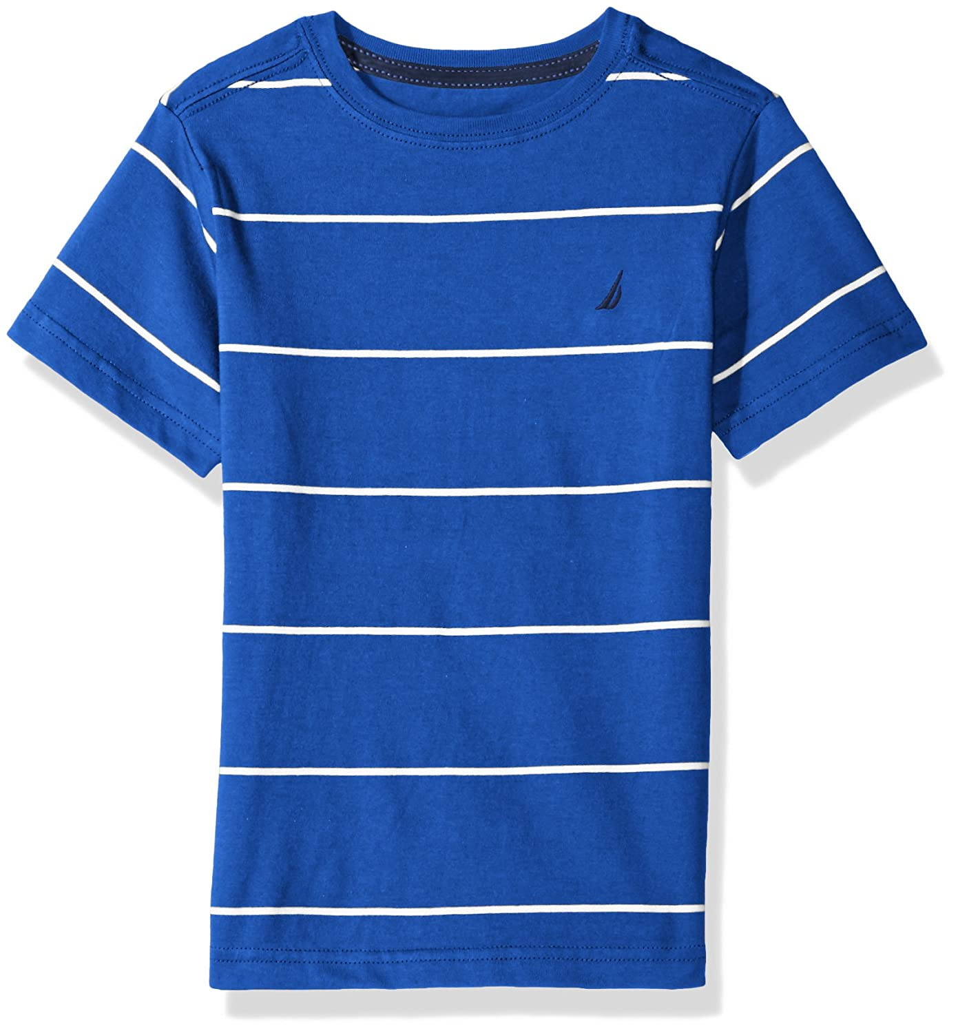 Nautica Boys' Short Sleeve Striped Crew-Neck T-Shirt