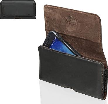 Smart Planet® Funda de cinturón Piel auténtica para Smartphone 4XL ...
