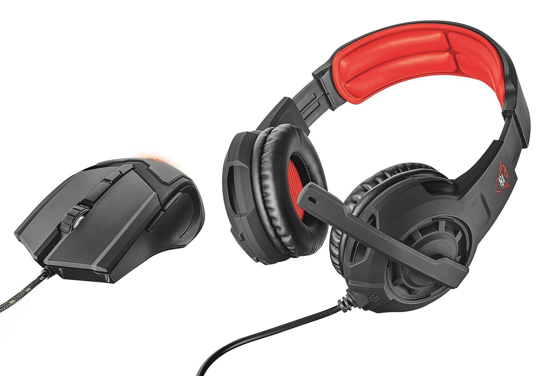 Trust Gaming 21472 GXT 784 Gaming-Headset und Maus schwarz Trust International B.V.
