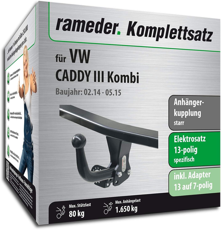 Anhängerkupplung fest Für VW CADDY ab 2004+E-SATZ 13polig SPEZIFISCH