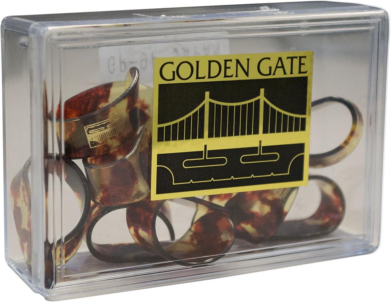 Golden Gate GP-9 Mock Tortoise Thumb Picks Large Dozen