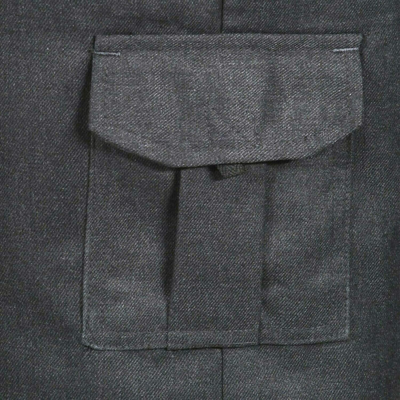 Adjustable Waist Boys Cargo Shorts School Uniform Ages 2-16 Years Black Grey