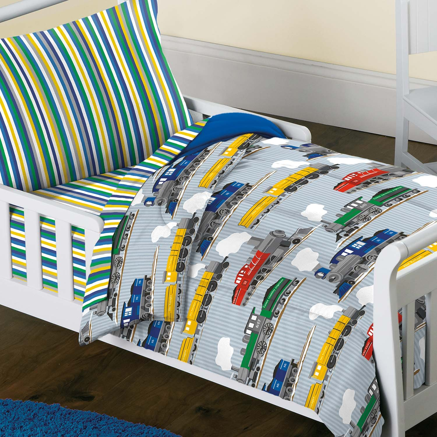 olive bed set comforter planes by trains trucks toddler kids bedding pin