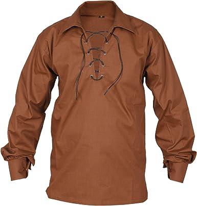 Camisa escocesa para hombre Jacobite Ghillie Kilt Shirts: Amazon.es: Ropa y accesorios