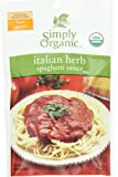 Simply Organic Italian Herb Spag Sauce Certified Organic, 1.31-Ounce Packets (Pack of 12)