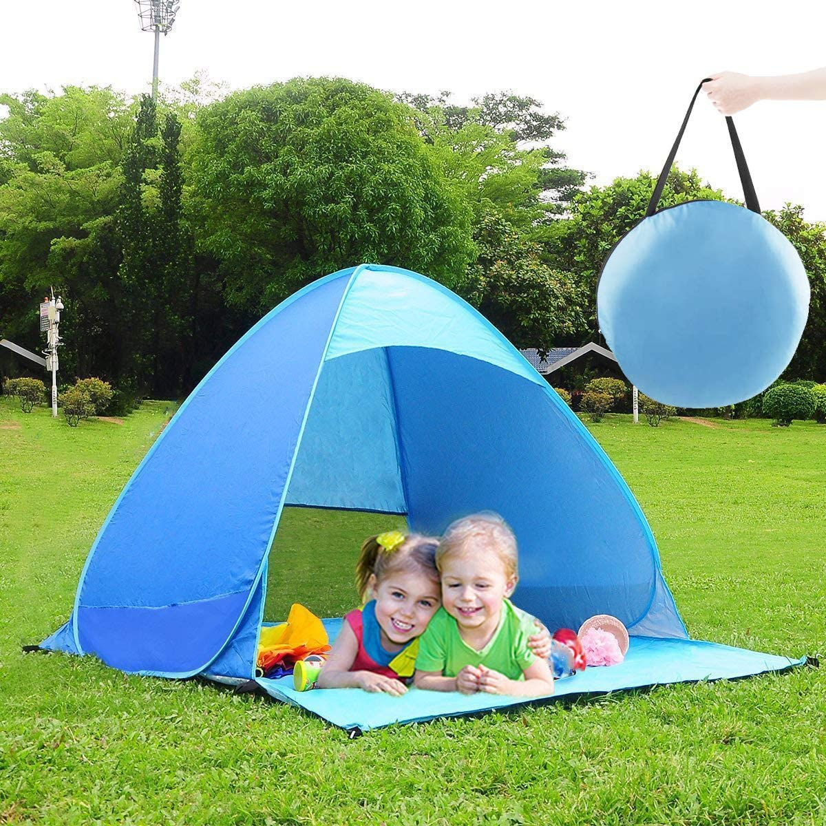 Pop Up Beach Tent, Portable Sun Shade Shelter Camping Tent for ...