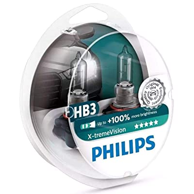 Philips 9005/HB3 X-tremeVision Headlight Bulb with up to 100% More Vision Premium Packaging, 2 Pack: Automotive