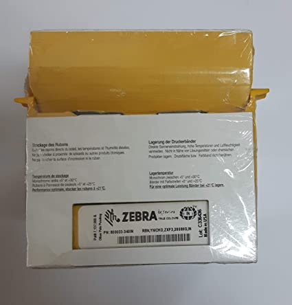 Zebra Technologies ZXP3 ID Card IN Series Full Panel Ribbon: Amazon