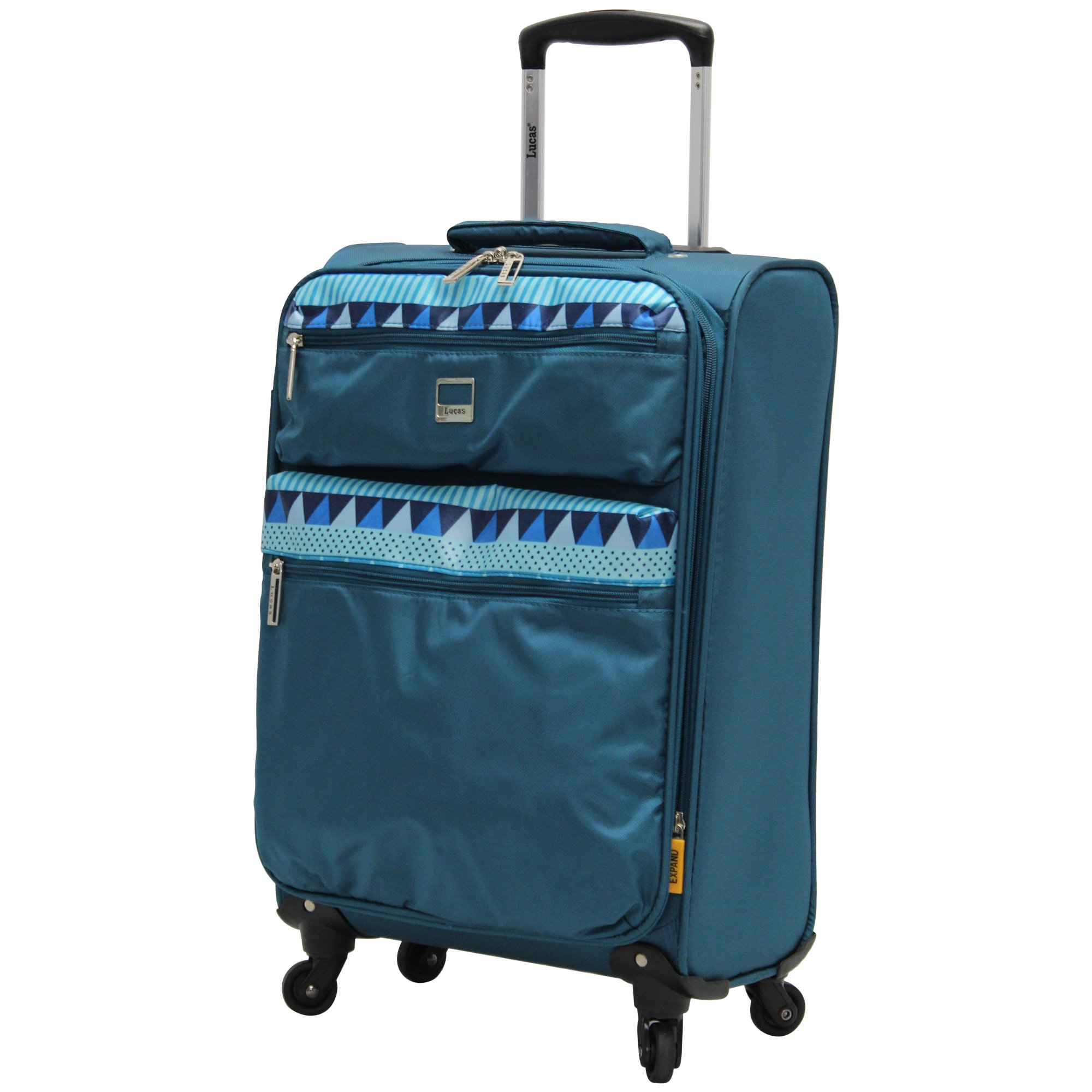 Lucas Luggage Ultra Lightweight Carry On 20 inch Expandable Suitcase With Spinner Wheels (20in, Teal) by Lucas (Image #1)