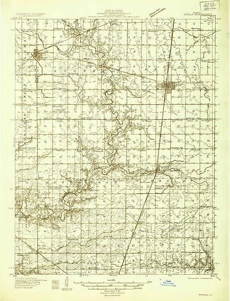 Amazon Com Yellowmaps Arcola Il Topo Map 1 48000 Scale 15 X 15