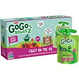 GoGo squeeZ Applesauce, Apple Berry, 3.2 Ounce (12 Pouches), Gluten Free, Vegan Friendly, Unsweetened Applesauce…
