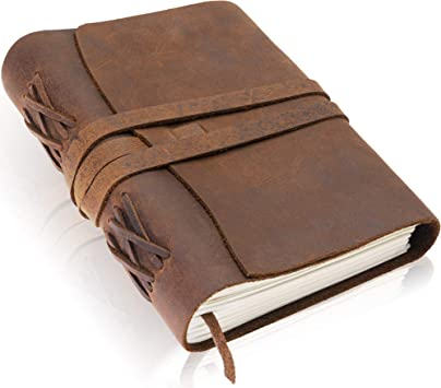 Amazon Com Premium Handmade Leather Journal By Scriveiner London 7x5 Inch Unlined Leather Bound Daily Writing Notebooks Journals To Write In For Men Women Cotton Paper Antique Travel Diary