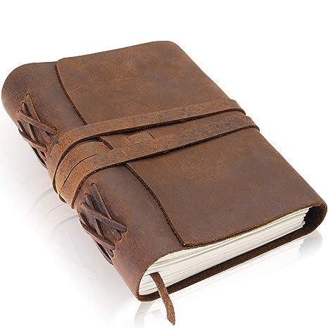 Amazon.com: Cuero Journal por Scriveiner - Cuaderno de piel ...