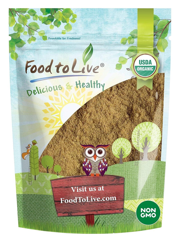 Organic Ginger Root Powder, 8 Ounces - Non-GMO, Kosher, Bulk, Raw Ground Ginger Root, Flour, Sirtfood