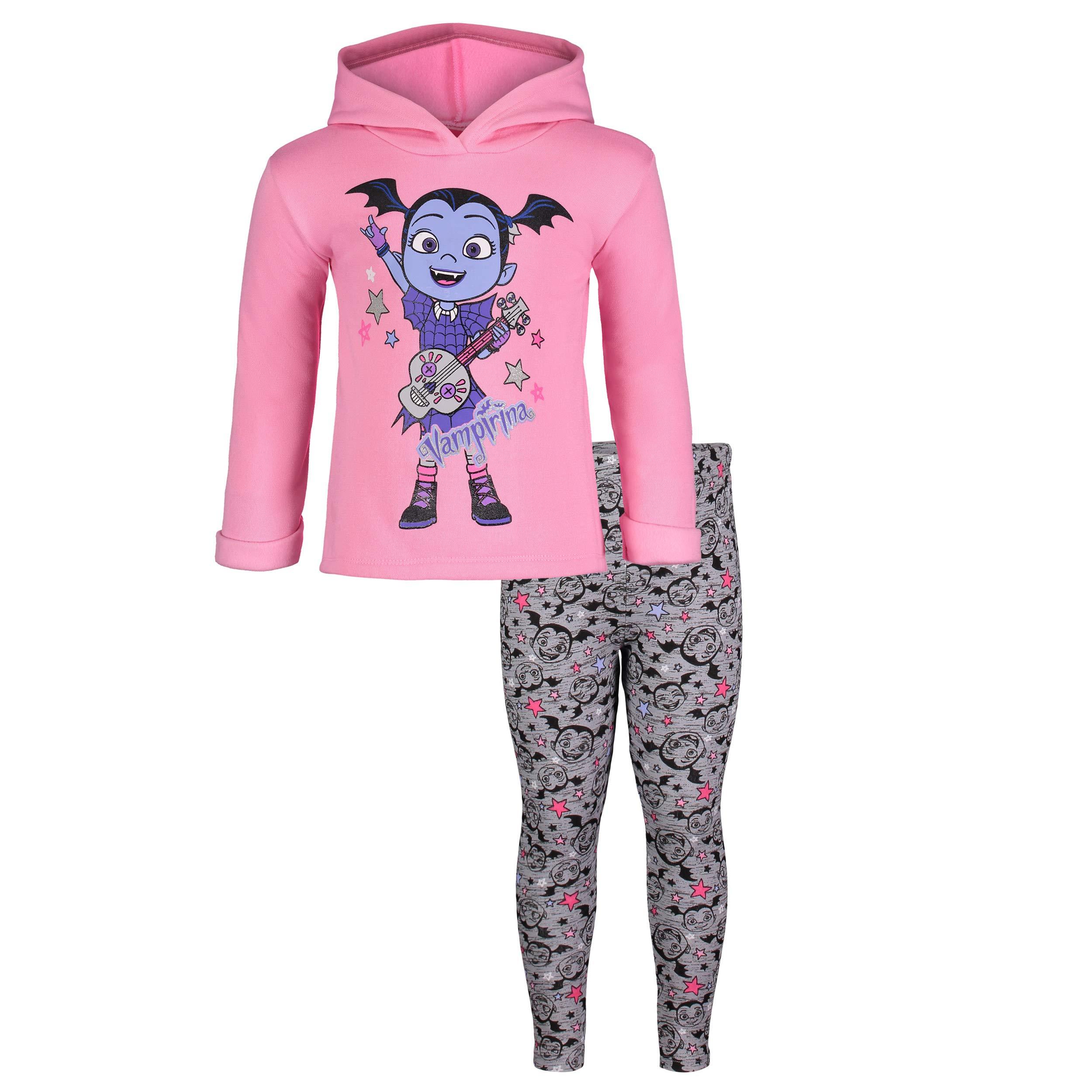 Disney Vampirina Toddler Girls' Fleece Hoodie & Leggings Clothing Set (3T)