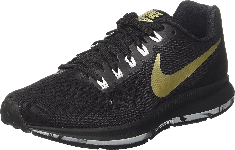 Buy Nike Women's Air Zoom Pegasus 34 Black/MTLC Gold/Star Running ...