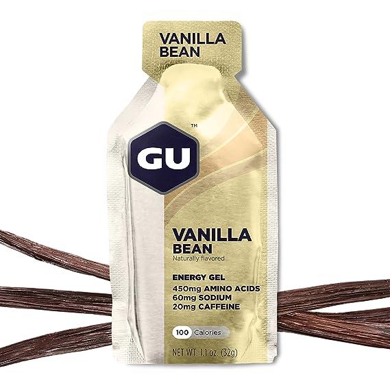 GU Energy Gel Energizante de Vainilla - Paquete de 24 x 32 gr - Total: