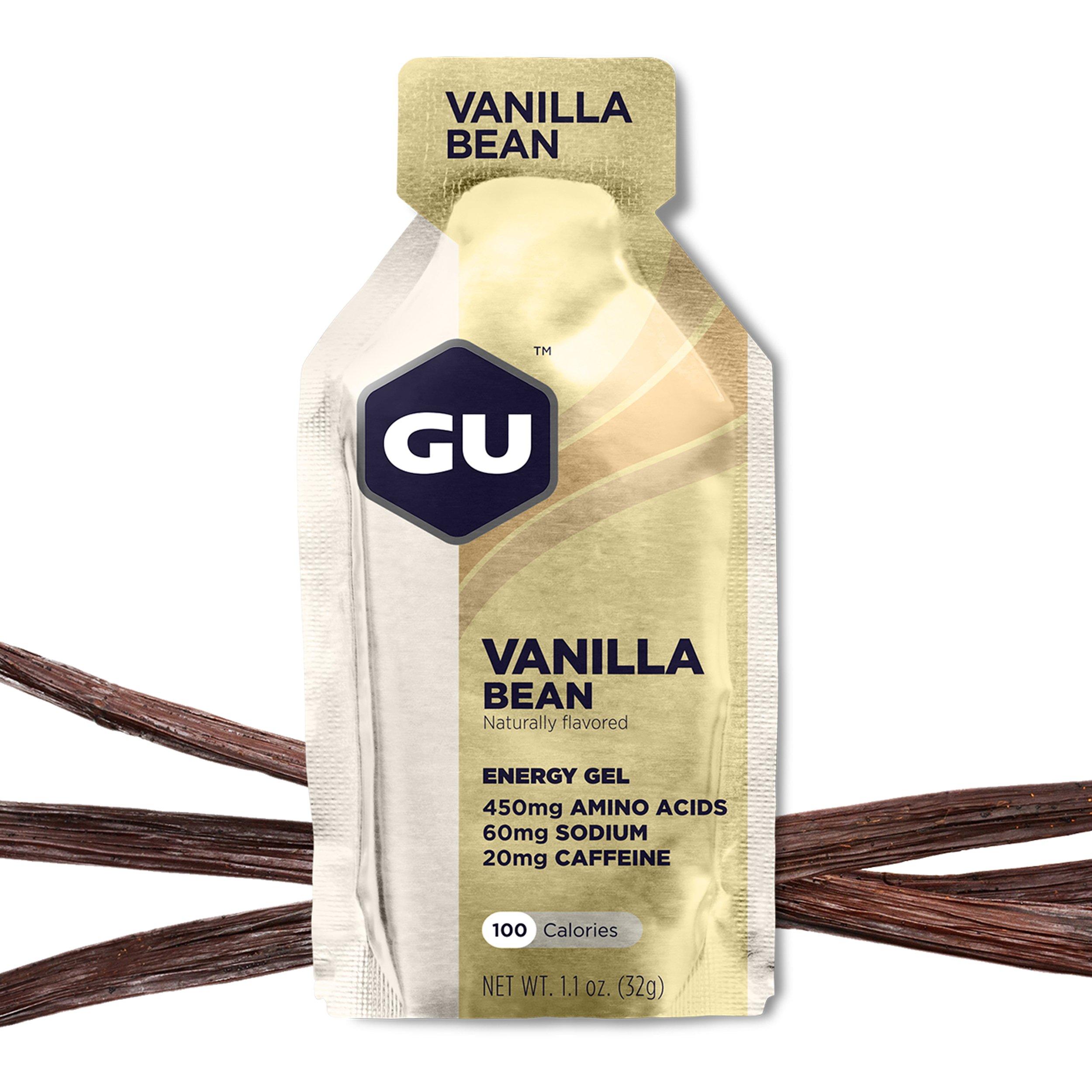 GU Energy Original Sports Nutrition Energy Gel, Vanilla Bean, 24 Count