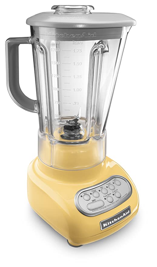 KitchenAid 5-Speed Blender with Polycarbonate Jar 0.9 Horse Power (The most  powerful in its class) motor Majestic Yellow 56-oz MADE IN USA.