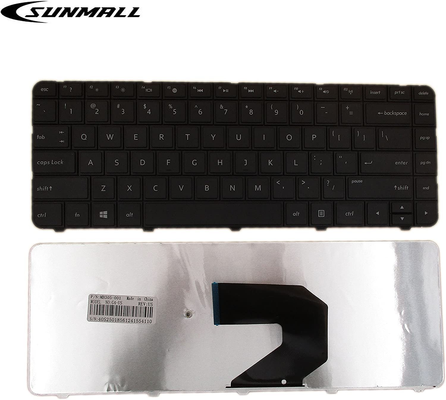SUNMALL New Laptop Replacement Keyboard for HP 2000-100 2000-200 2000-300 2000T-300 2000-400 2000-340CA 2000-350US 2000-351NR 2000-352NR 2000-2d07CA 2000-2d09CA 2000-2d09WM Series Black US Layout
