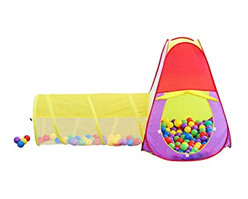 Kids 2 Piece Play House Tent and Tunnel Toy Indoor u0026 Outdoor Child Pop up  sc 1 st  Amazon.com & Amazon.com: Kids 2 Piece Play House Tent and Tunnel Toy Indoor ...