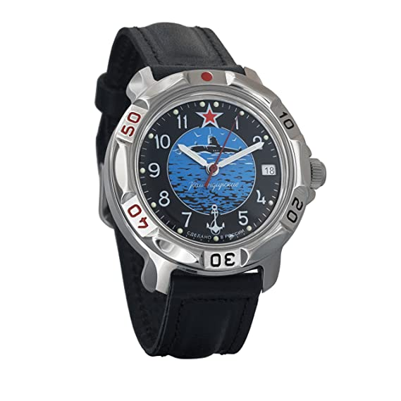 Amazon.com: Vostok Komandirskie Army Mechanical Mens Wristwatch Military Komandirskie Case Wrist Watch #811163 (Black+Grey): Watches