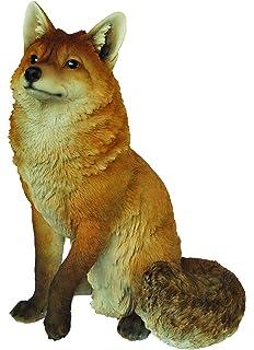 Vivid Arts XRL SFOX A Large Sitting Fox Resin Ornament