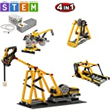 SEIGNEER 4 IN 1 Power Machinery Beam Pumping Unit Building Set Education Toy 178 Pieces With Storage Box