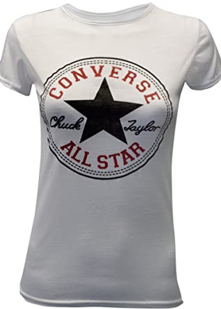 8bcf8ae932f8 Mymixtrendz® All Star Converse Women s T-Shirt with Slogan Print - White -  Medium
