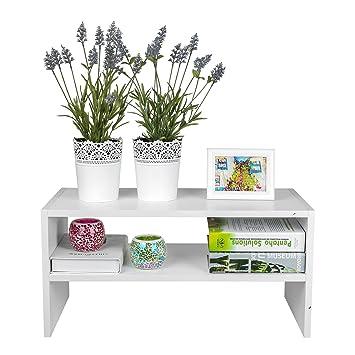 TOP MAX Display Shelf Storage 2 Tier Bookshelf Bookcase TV Stand Rack Unit For Kids