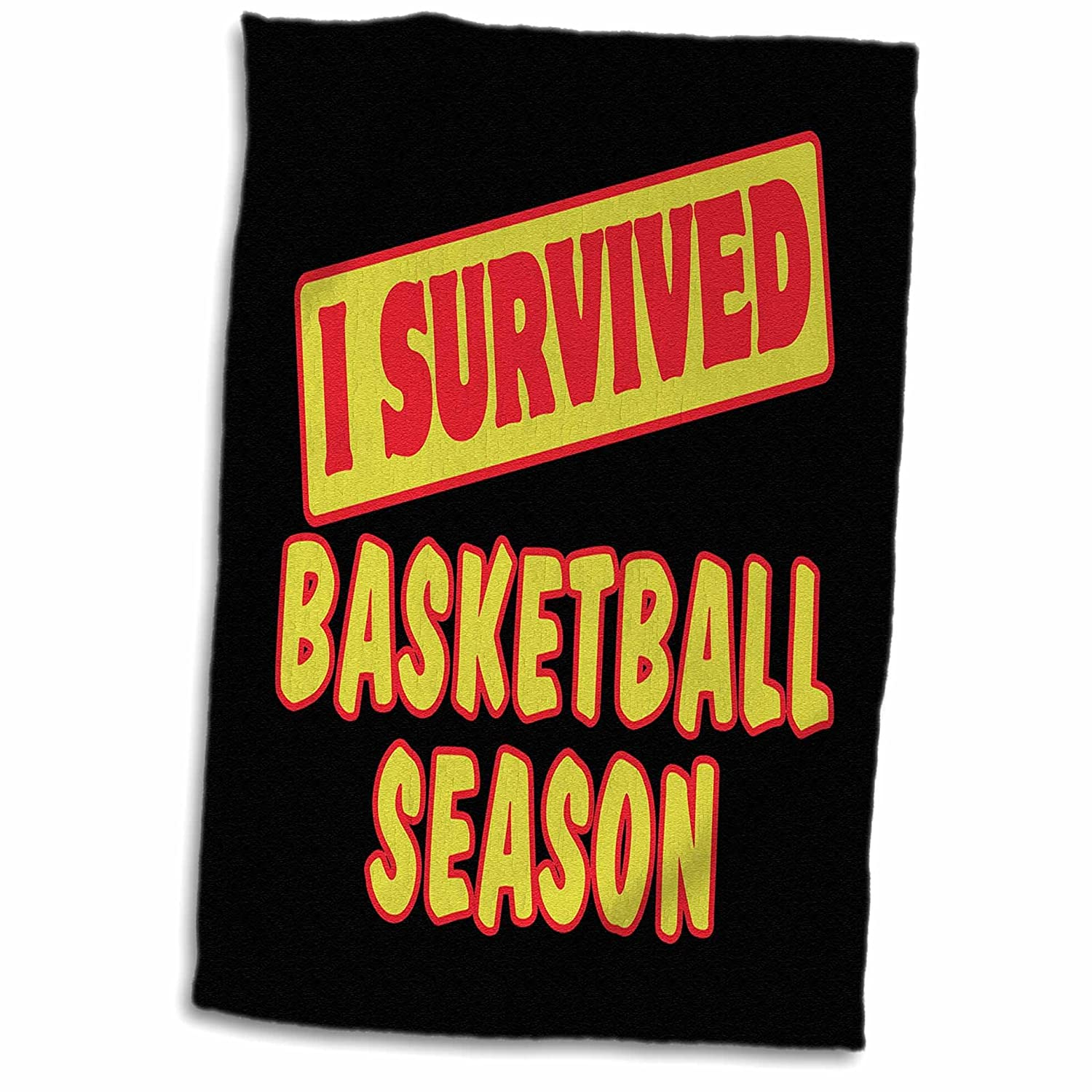 3D Rose I Survived Basketball Season Survial Pride and Humor Design Hand//Sports Towel 15 x 22