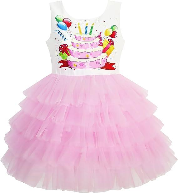 Amazon.com: Sunny Fashion - Vestido de fiesta de cumpleaños ...