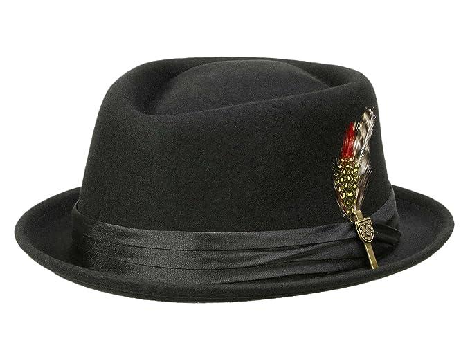 cc8f844d8f7 Brixton Men s Pork Pie Hat Stout - black  Amazon.co.uk  Clothing