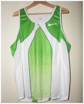 fae7bba754 Image Unavailable. Image not available for. Colour: Nike Pro Elite  Sponsored Pro Athlete Running Vest Racing Singlet Athletics Track And Field  Olympic Mens