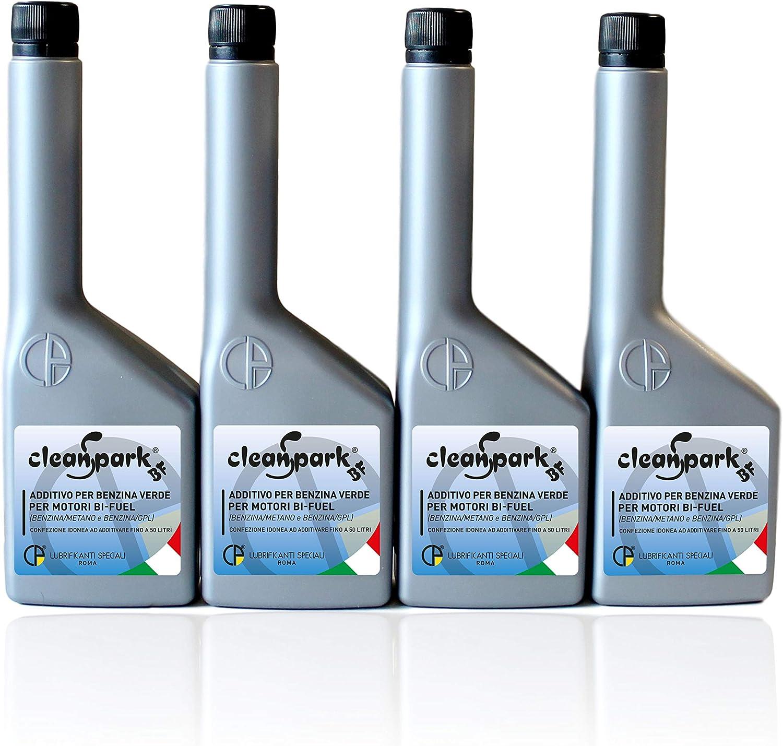 500 Ml 4 Flaschen Von 125 Ml Cleanspark Bf Additiv Für Benzin Für Bifuel Motoren Benzin Methan Und Benzin Lpg Auto