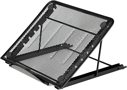 AUCH Portable Folding/Adjustable Mesh Laptop Notebook/Book/ipad Table/Desk/ Tray/Stand /Cooling Stand,Black