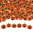 "144 ~ Halloween Pumpkin Jack-o-lantern Mini Erasers ~ Approx. 3/4"" ~ New"