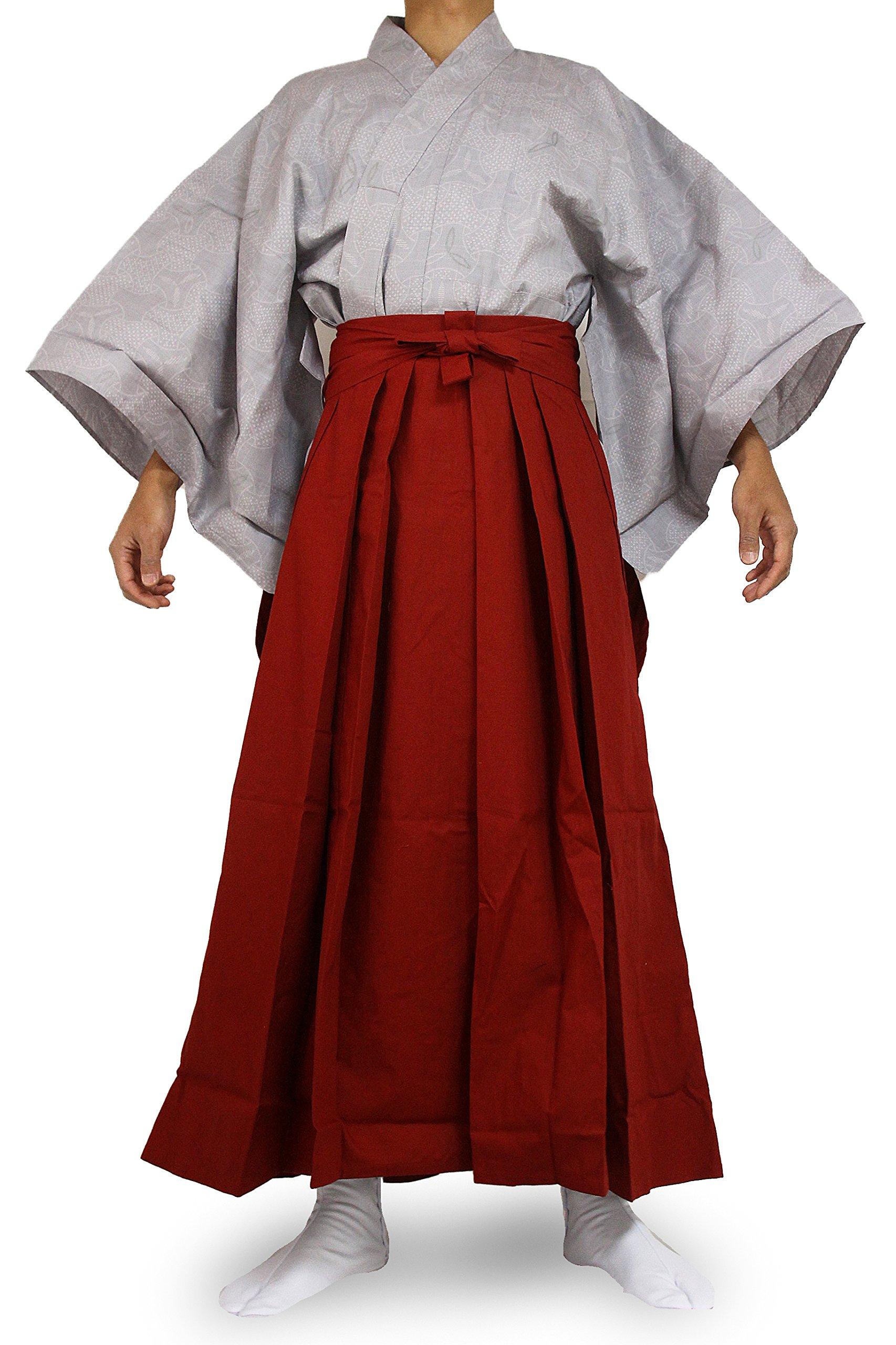 Edoten Japanese Samurai Hakama Uniform 1773GY-RD XL