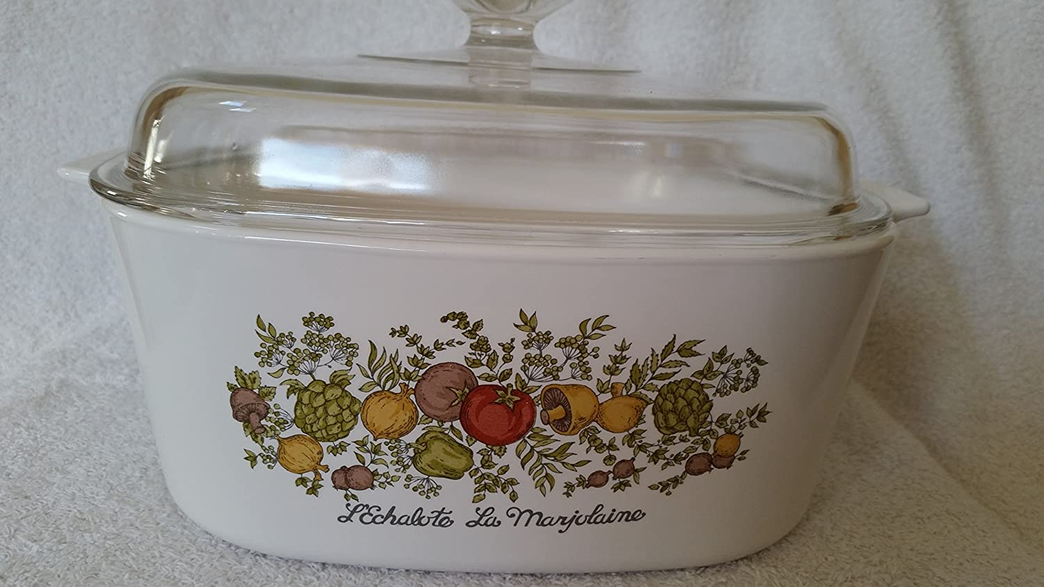 Vintage Corning Ware Spice of Life Lexhalote La Marjolaine Dutch Oven with Lid 5 L Liter