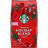 Starbucks Holiday Blend Medium Roast Ground Coffee, 18 Ounce (Pack of 1) Bag | Herbal & Sweet Maple Notes