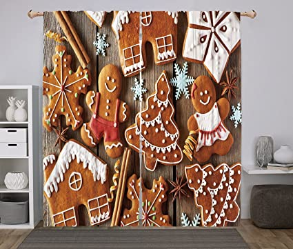 Gingerbread Kitchen Curtains Custom Design Inspiration