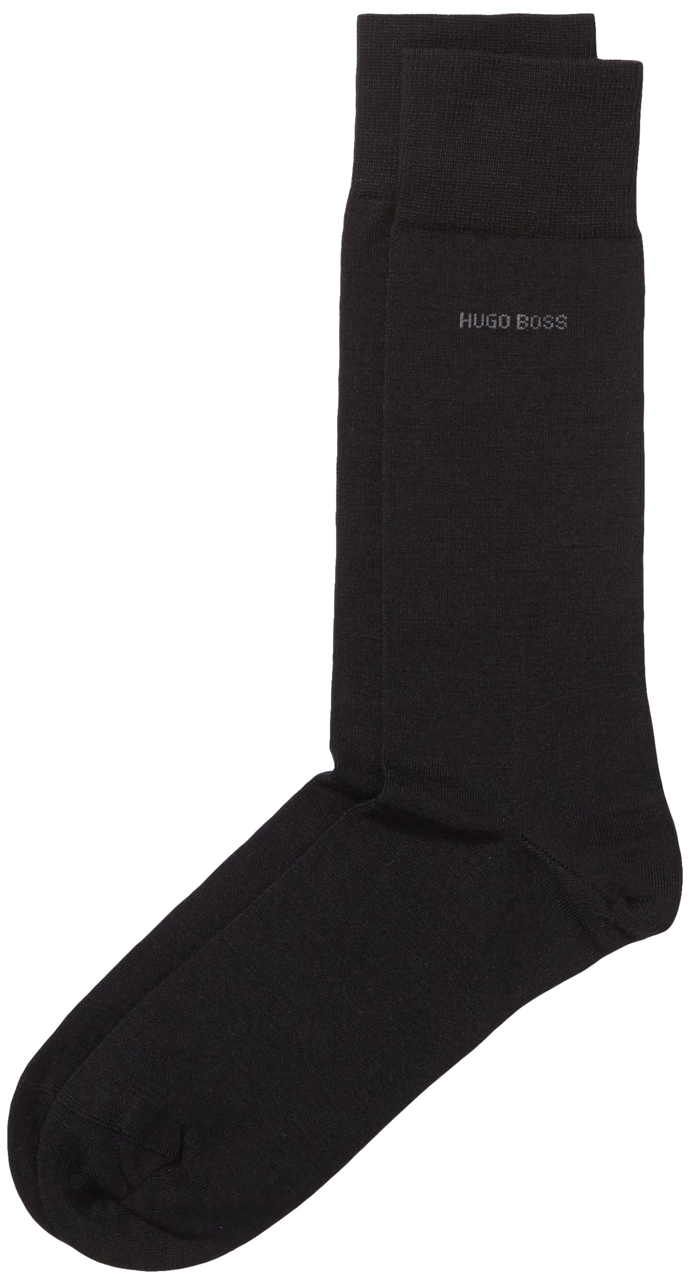 Hugo Boss Men's 1 Pair John Plain Finest Wool and Soft Cotton Socks 9.5-10.5 Black