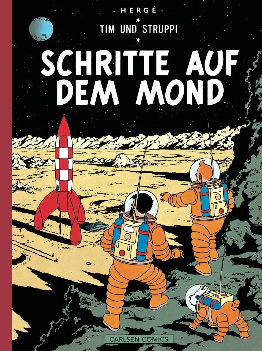 Tim And Struppi Farbfaksimile Band 16  Schritte Auf Dem Mond
