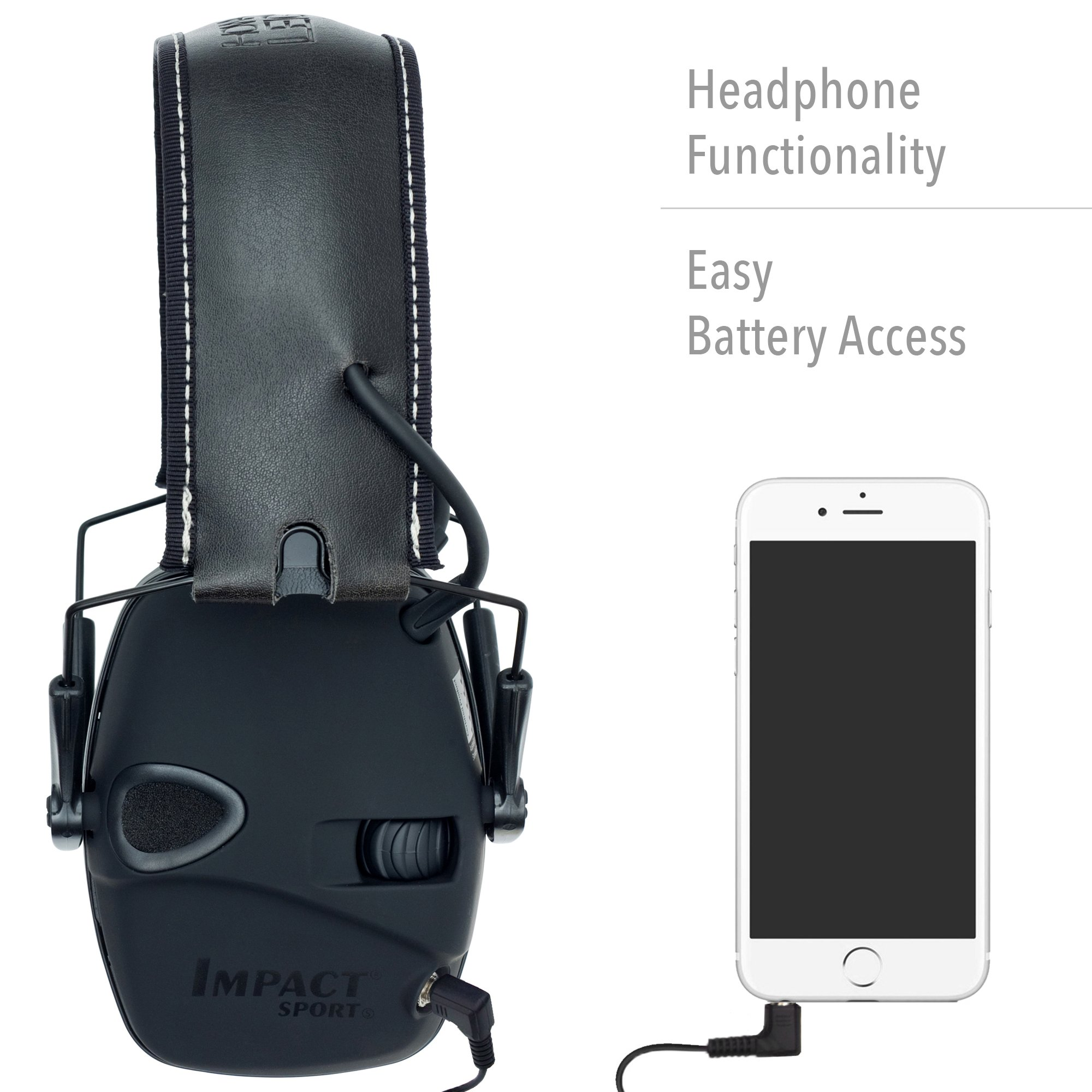 Howard Leight by Honeywell Impact Sport Sound Amplification Electronic Shooting Earmuff with Hard Case (R-02601) by Howard Leight Shooting Sports